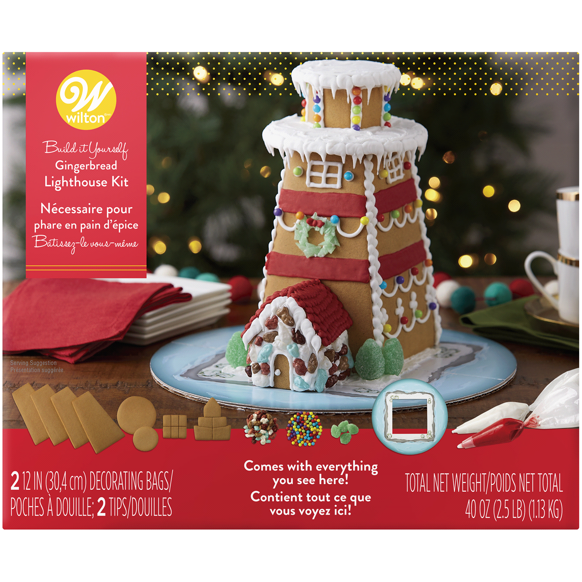 Wilton BuilditYourself Gingerbread Lighthouse Decorating