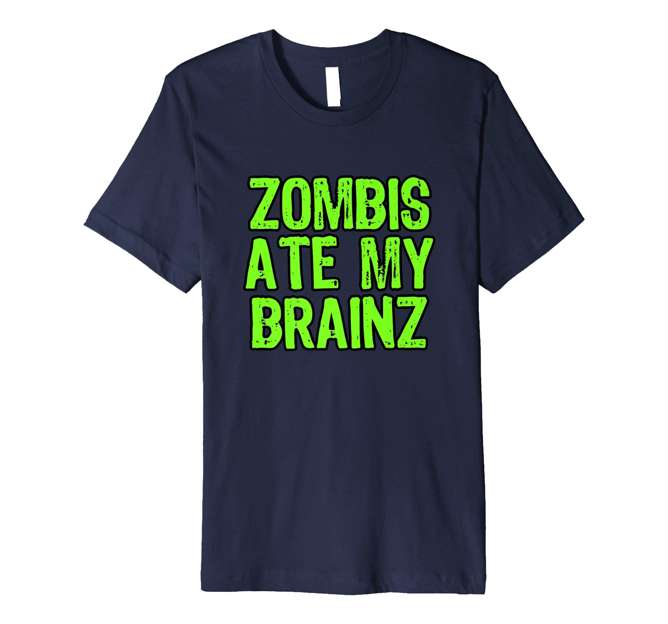 a12077a5740 Funny Humor  Zombies Ate my Brains  Halloween Tee Shirt gift by Scar  Design. In 5 colors and sizes  S- 3XL. For Men-Women-Youth. Price  £17.99.