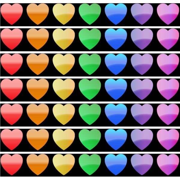 Stock Clip Art Rainbow Hearts Heart Clip Art Clip Art Rainbow Heart