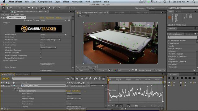 CAMERATRACKER for After Effects | The Foundry