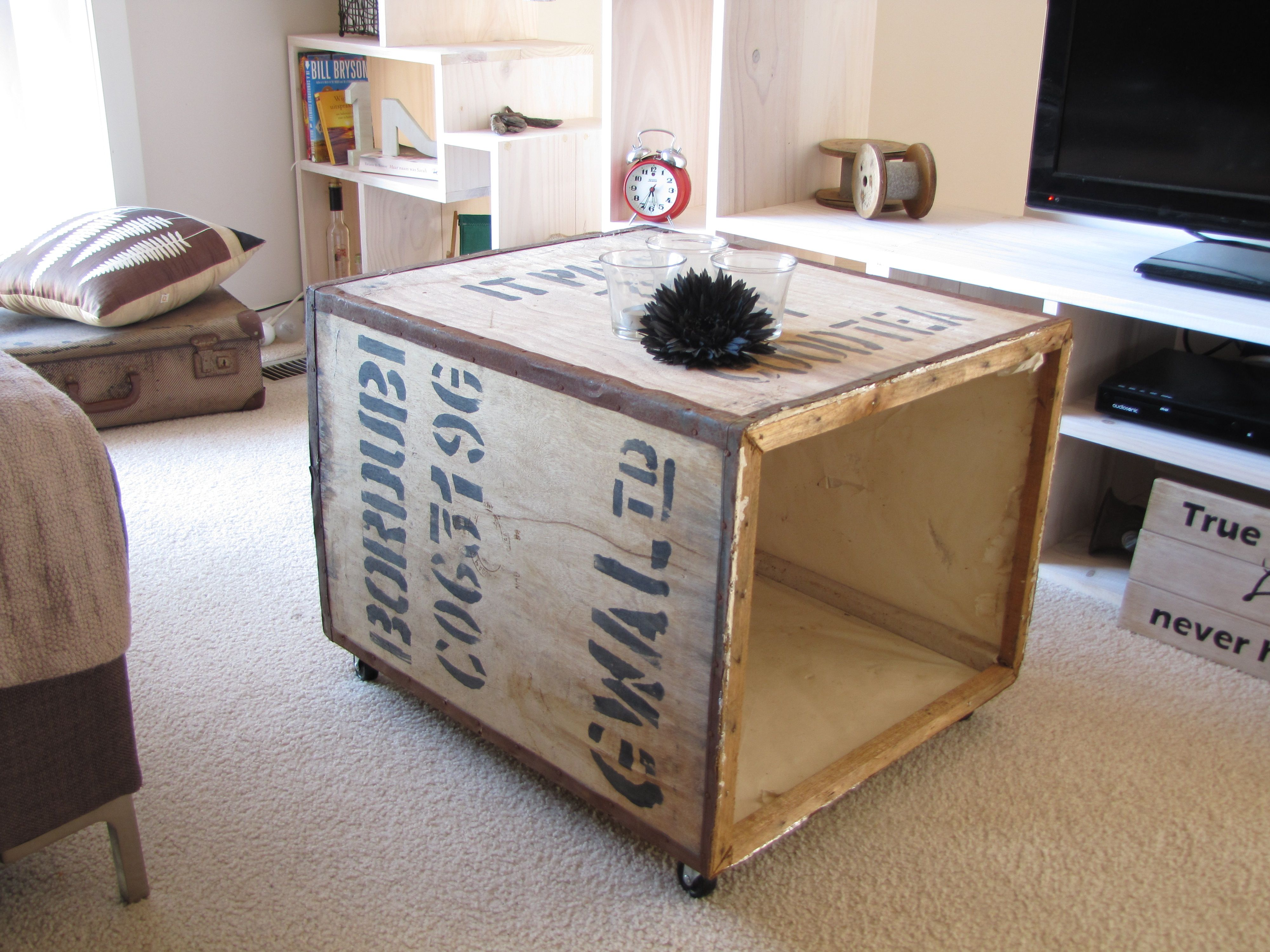 Wine Bar Treasure Trunk Chest Coffee Table Coffee Table Trunk
