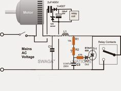 adding a soft start to water pump motors reducing relay burning rh pinterest com Power Relay DC Relay Diagrams