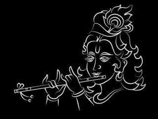Lovely God Krishna Krishna Art Drawings Krishna Drawing