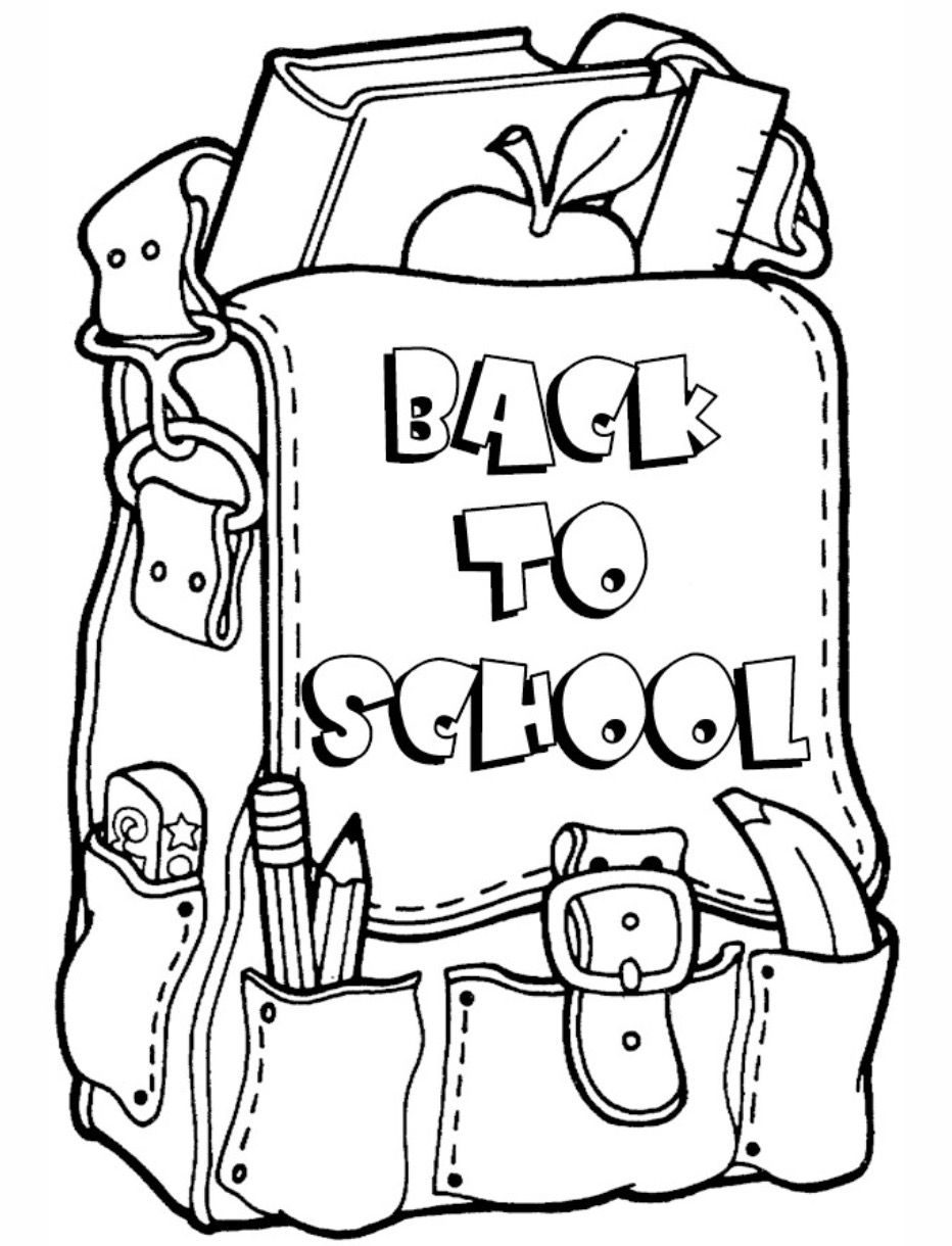 Back to School Coloring Page coloring page & book for kids