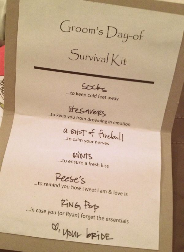 Diy Wedding Day Survival Kits For The Bride And Groom All Necessities They Will Need To Get Them Through Their