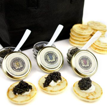 Imported Caviar Trio To-Go Set, $325, now featured on Fab.  I WANT IT! But caviar ain't ever happenin' at that price.