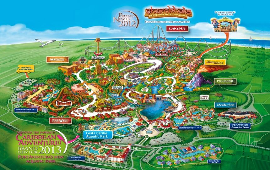 Portaventura World A Thrilling Adventure Guaranteed Places Id - Map-of-amusement-parks-in-the-us