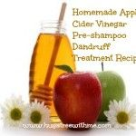 Homemade Apple Cider Vinegar Pre-shampoo Dandruff Treatment Recipe