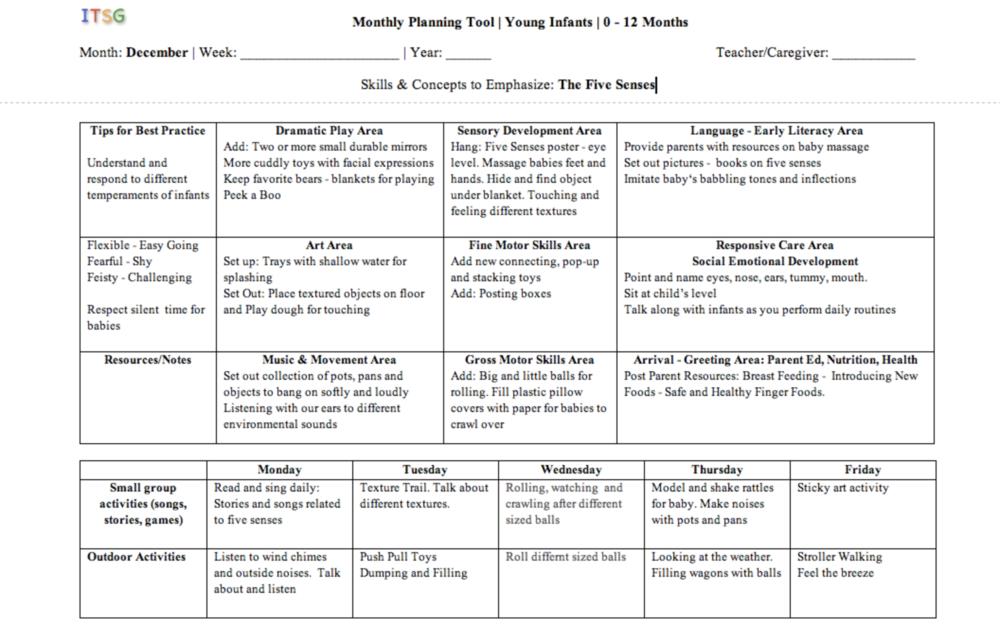 Ages 0-12 Months. Lesson Plans | Infant lesson plans ...