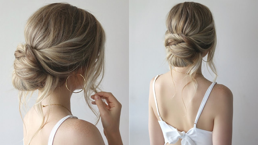 Bridesmaids Hairstyle Pulled Back Low Easy Bun Hairstyles Simple Wedding Hairstyles Simple Prom Hair
