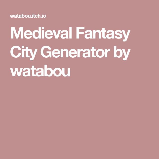 Medieval Fantasy City Generator by watabou | Worldbuilding
