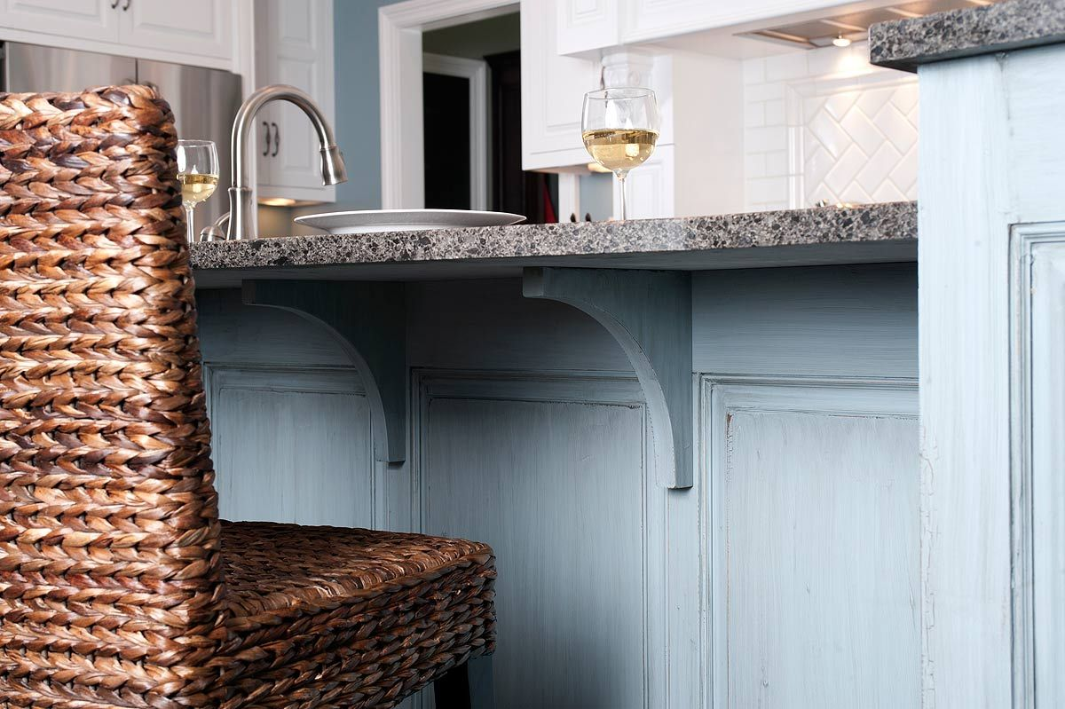 Counter brackets and brackets for kitchen counter support