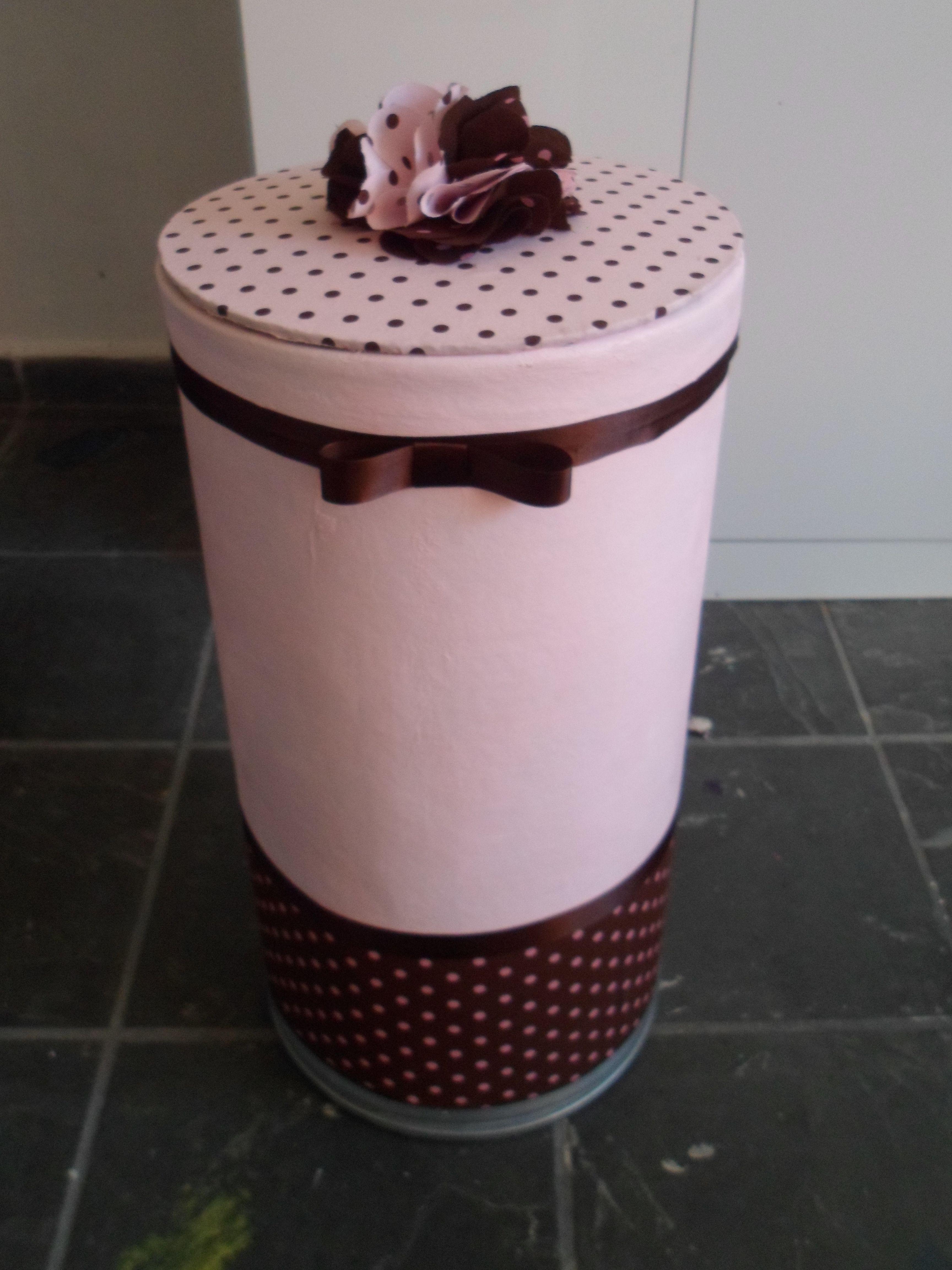 reciclar a barrica de textura, com pintura e tecido