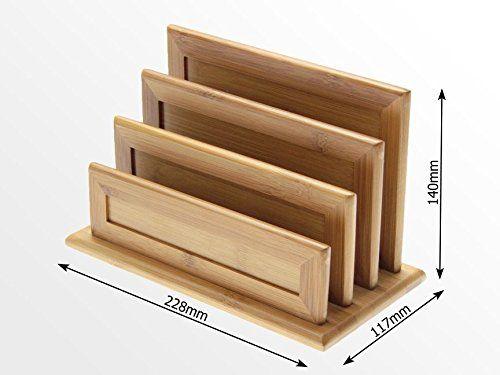 A4 corbeille à courrier en bambou bureau organisateur organiseurs