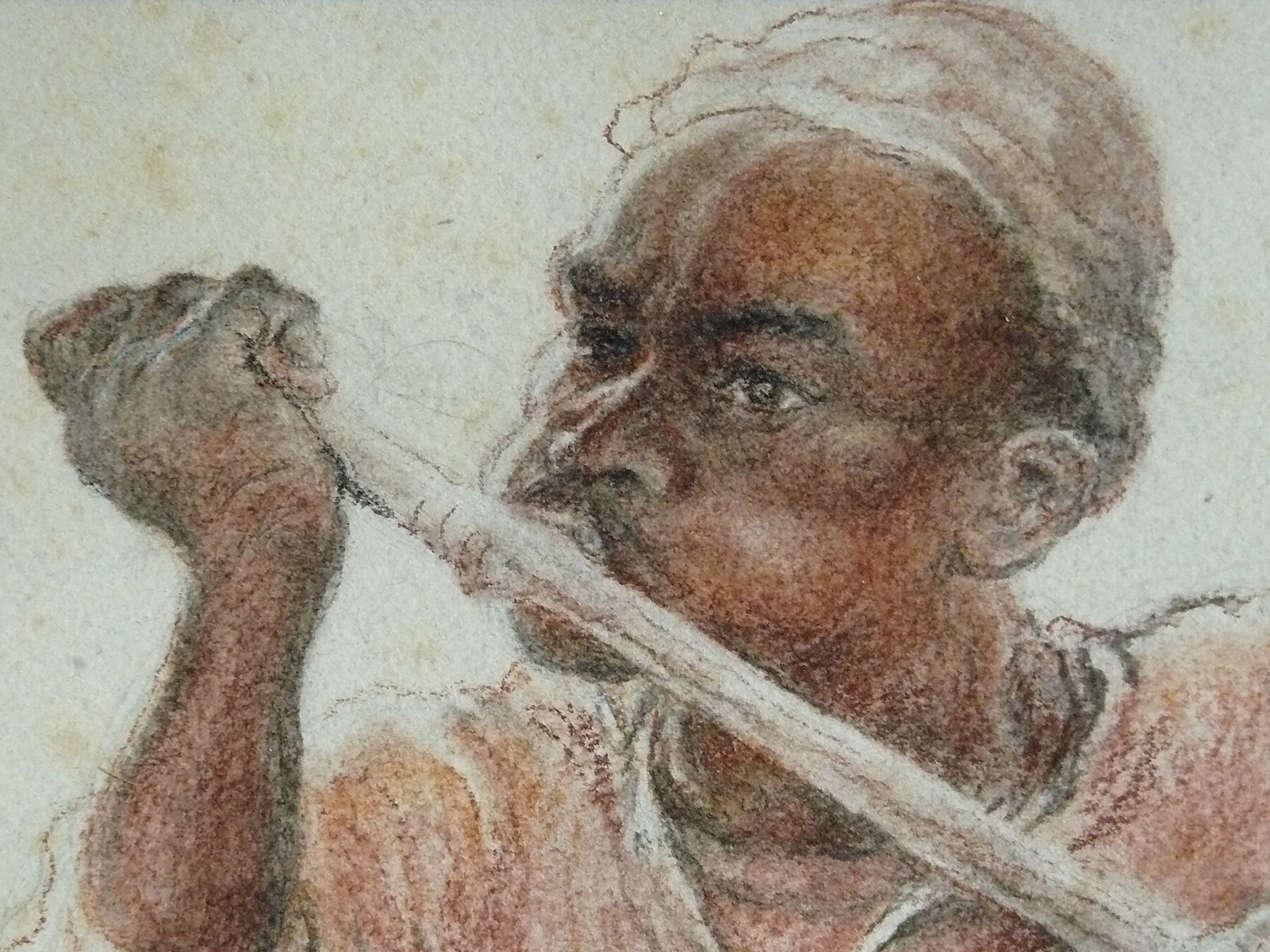 Rabannes Jules - Flutiste africain (détail)