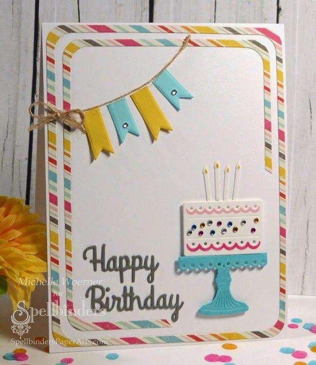 Amazing Spellbinders Springtime Shipping Frenzy Day 3 Birthday Cake Funny Birthday Cards Online Aboleapandamsfinfo
