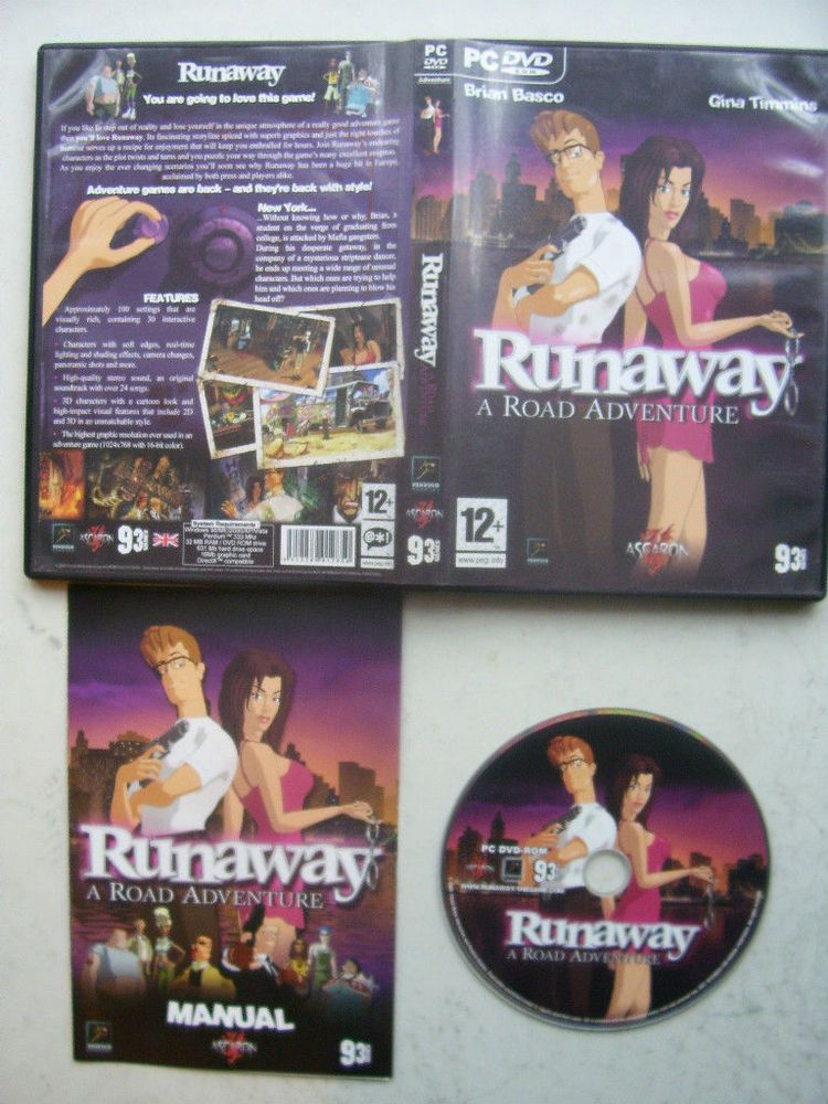 Runaway A Road Adventure PC Game Road adventure, Grand