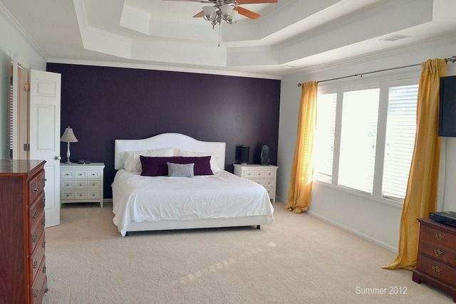 20 beautiful purple accent wall ideas purple accent walls purple accents and grey room Purple accent wall in living room