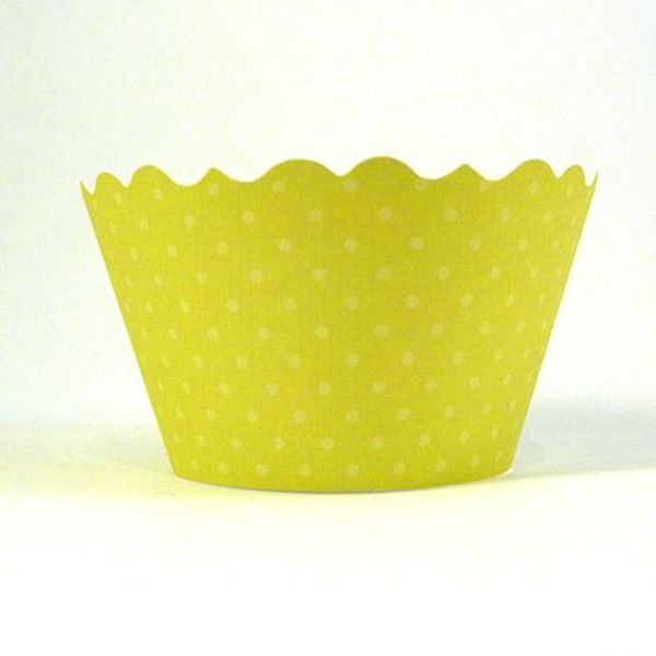 Chartreuse Bella Cupcake Wrappers