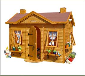 Casita de madera infantil domo en color miel casitas de - Casitas de madera infantiles baratas ...
