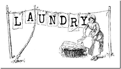 Clothespin Bag Laundry Room Art Printing On Burlap Laundry Lines