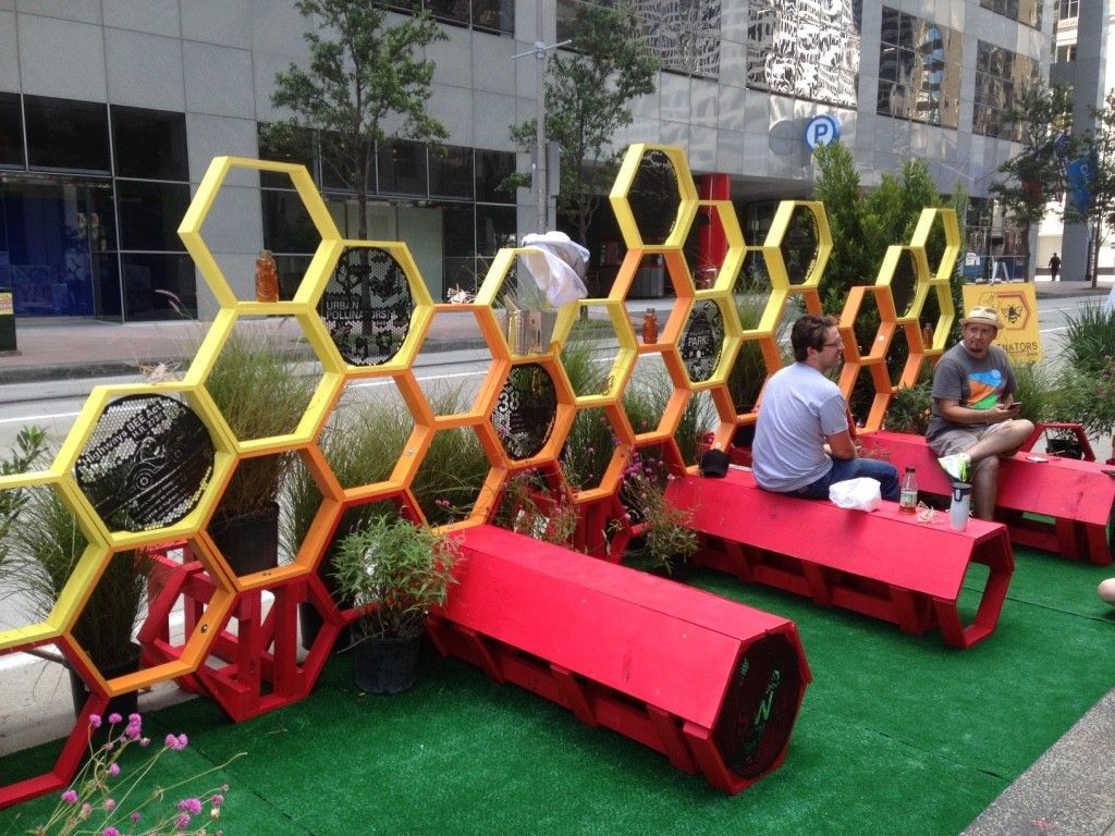 Employees Of Landscape Architecture And Urban Design Firm SWA Show Off  Their Houston Parklet Friday.