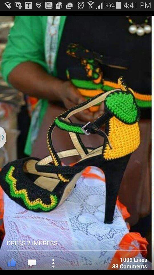 Crochet high heels in jamaican colorsnt cute my crochet crochet high heels in jamaican colors voltagebd Gallery