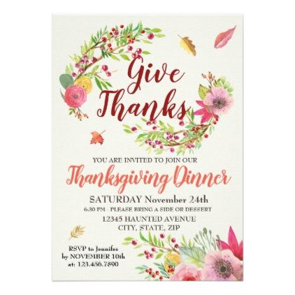 Thanksgiving Dinner Invitation  Thanksgiving Invitations Holiday