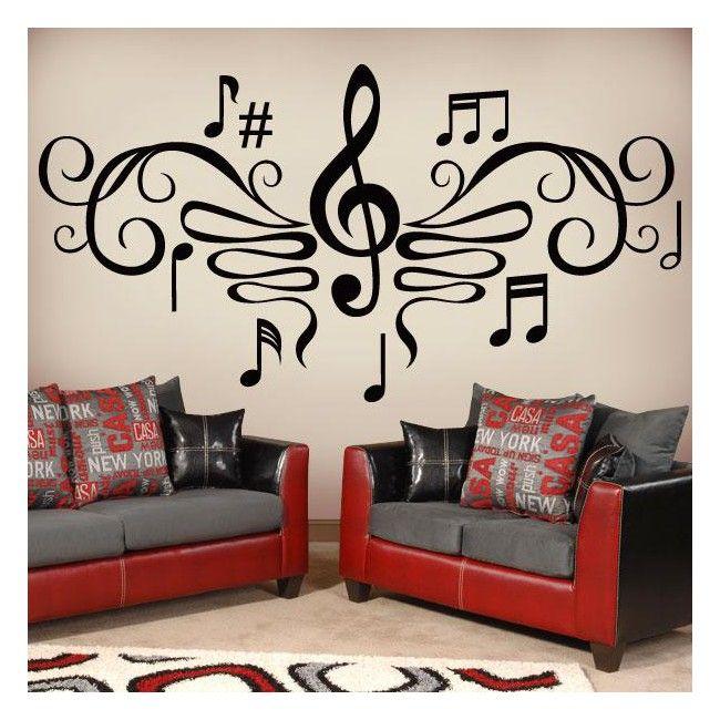 Buscas vinilos decorativos con dise os musicales para for Disenos para pintar paredes