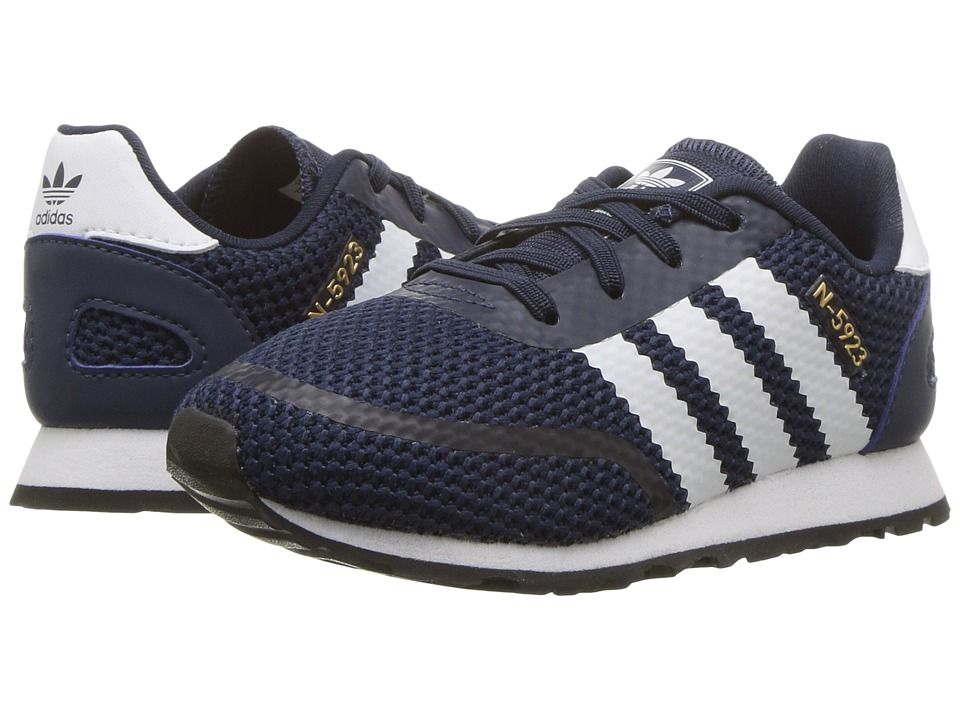 new concept 81c66 5609c adidas Originals Kids N-5923 CLS I (Toddler) Boys Shoes Collegiate Navy Chalk  White