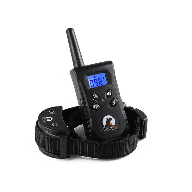 無駄吠え防止首輪 トレーニングカラー 伸縮首輪 しつけ用 電撃 警告音 振動感度で制御 Lcd表示 犬のトレーニング ペット用品 ペット用カート