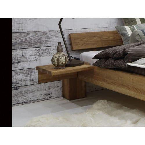 Komfortbett 180x200 cm Eiche massiv mit Bettkasten in 2020