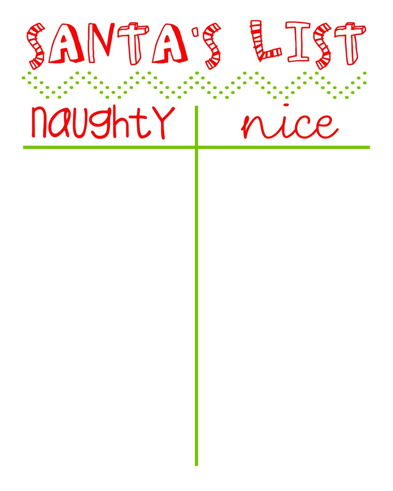 12 Days Of Christmas Naughty Or Nice List Printable