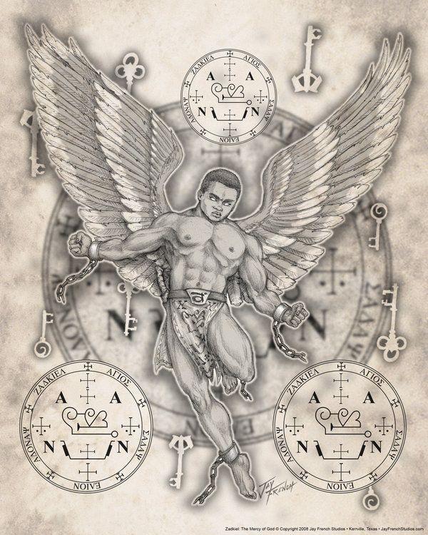 Cassiel Seals Of Angels Pinterest Archangel Zadkiel