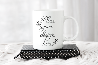 Coffee cup stock photo template mug mock up rustic cup