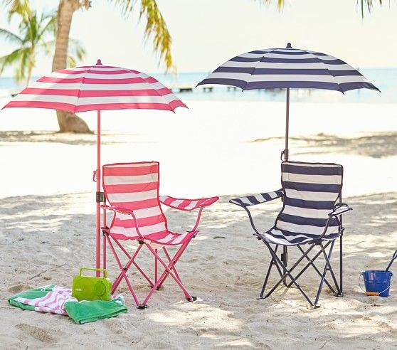 Pink Stripe Freeport Chair Amp Umbrella Pottery Barn Kids