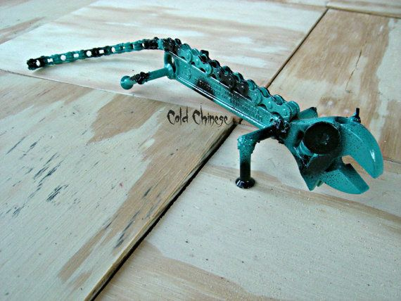Blue wrench lizard by ColdChinese on Etsy, $30.00