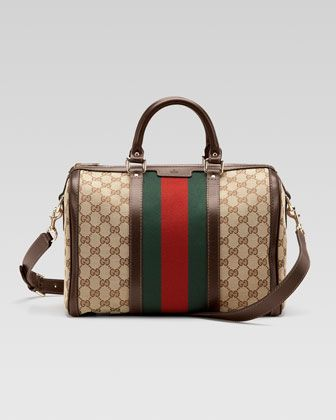 a75ff3c268 Always a classic! Vintage Web Original GG Canvas Boston Bag by Gucci ...