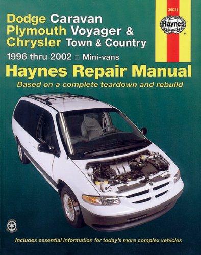 Dodge Caravan Plymouth Voyager Chrysler Town Country Including Grand Caravan 96 02 Haynes Repair Manual Does Not Include All Wheel Drive Or Alternative Plymouth Voyager Chrysler Town And Country Mini Van