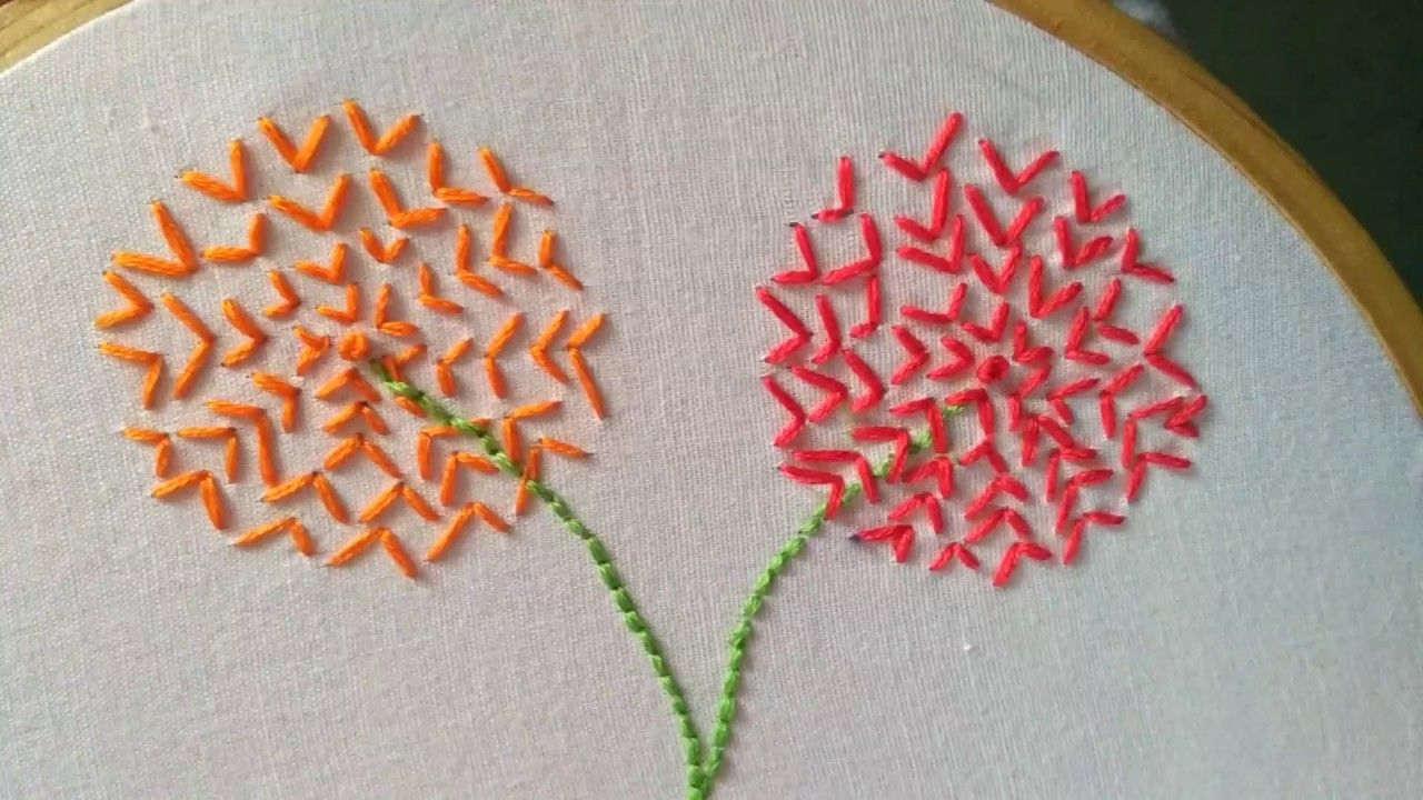 How To Make Hand Embroidery Backstitch Design Hand Embroidery Design Embroidery For Beginners French Knots