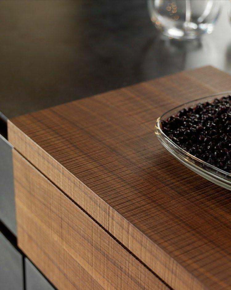Arbeitsplatte aus strukturiertem Haselnussholz Küche Pinterest