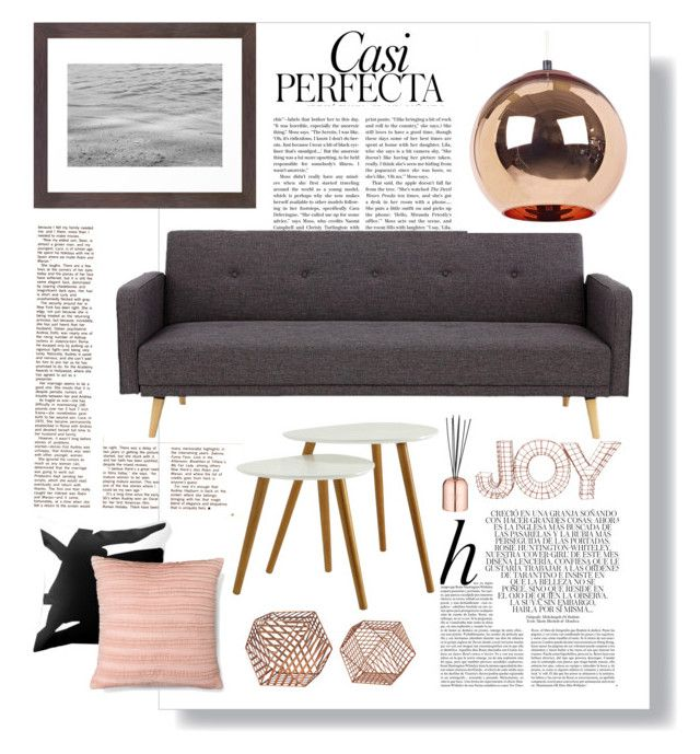 """""""copper vs gray"""" by by-jwp ❤ liked on Polyvore featuring interior, interiors, interior design, home, home decor, interior decorating, Whiteley, Convenience Concepts, Threshold and Tom Dixon"""