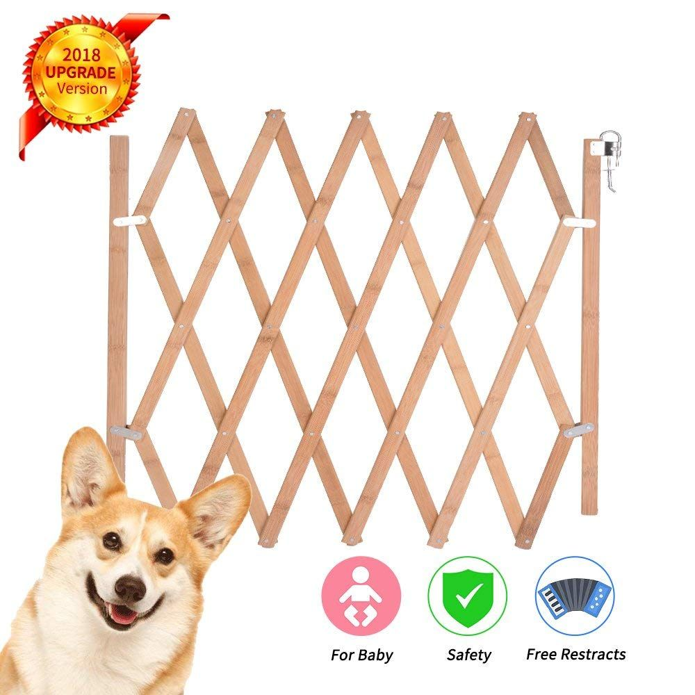 Expandable Swing Wide Gate Fence Baby Kids Child Dog Pet Safety Extra Wide Wood