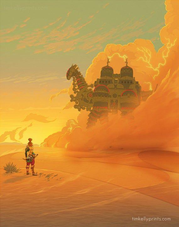 Gerudo Desert, Vah Naboris Print, The Legend of Ze