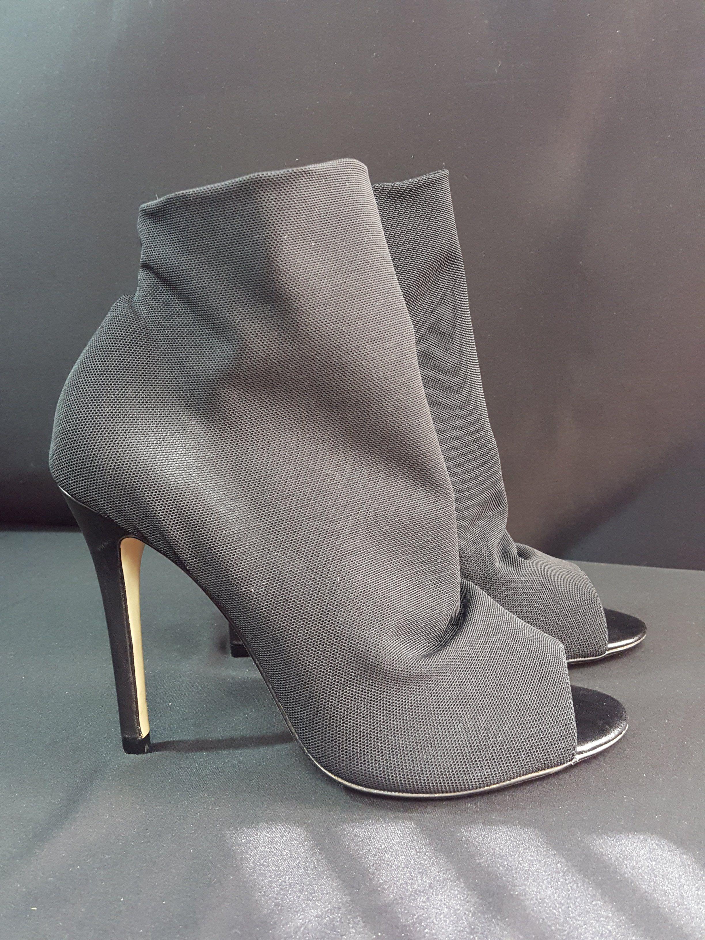 aa846574c79 Karen Millen Black Elastic Peep Toe Shoe Boot Sz. 38 #resaleshop  #stylebloggers #fashion #potd #samplesales #com #blackgirlfly #ebay  #secondhand # ...