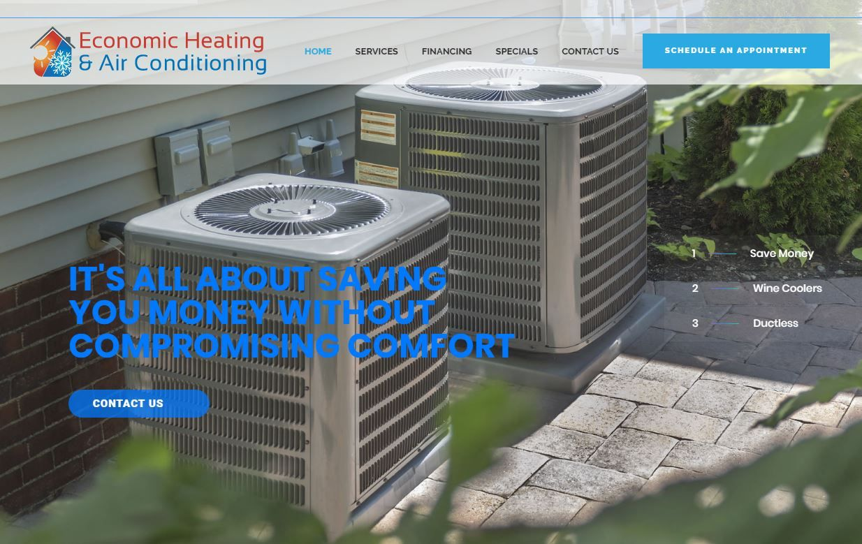 New Website Economic Heating and Air Conditioning Everett