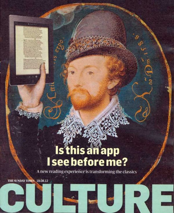 Check out Bridgeman image on cover of Sunday Times Culture yesterday. 'Is this an app I see before me.'