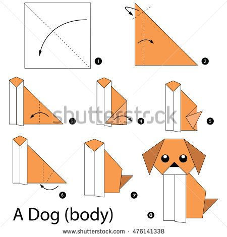 Step By Step Instructions How To Make Origami A Dogbody Idejos