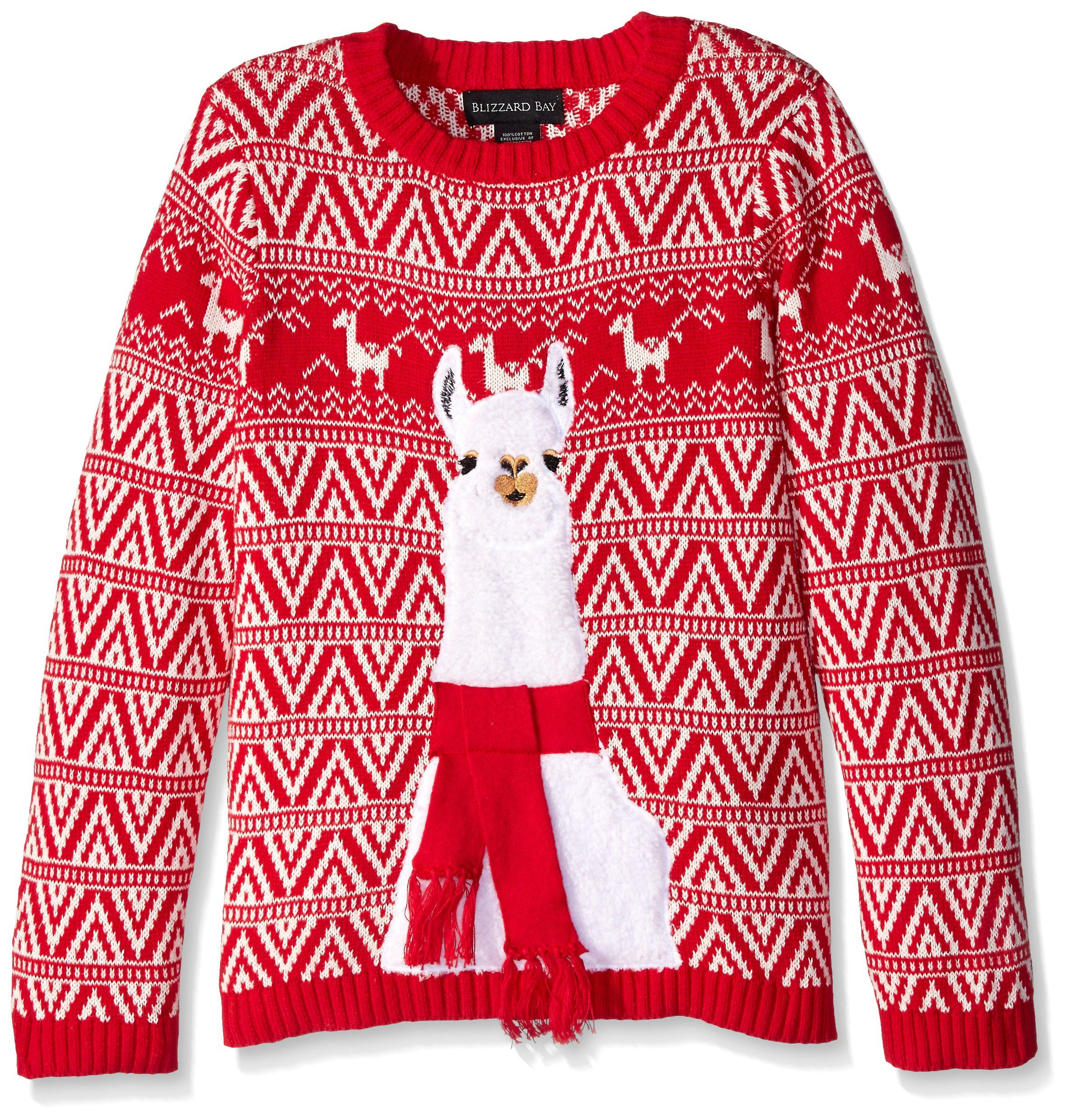 Blizzard Bay Womens Womens Ugly Christmas Llama Sweater Sweater