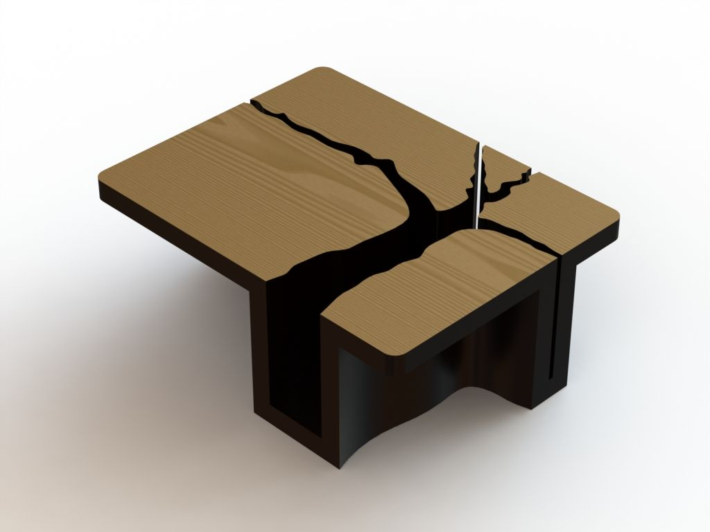 Coffee Table Tree Stink Tree Coffee Table By Dylan Gold Free 3d Solidworks Model